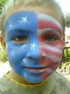 Flag- Face Painting
