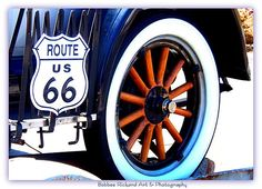 Route 66 by Bobbee Rickard Classic Cars and more; prints, greeting cards. . visit the site, click on image.