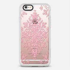 Pink Lace Baroque Doodle on Transparent