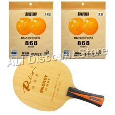Palio ENERGY 01 Blade with 2x KOKUTAKU BLutenkirsche 868 Tokyo Rubbers for a  Table Tennis Combo 71b7028718e1d