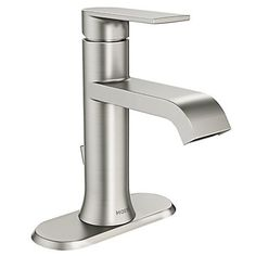 MOEN Genta Single Hole Single-Handle Bathroom Faucet in Spot Resist Brushed Nickel - - The Home Depot Bathroom Rules, Wood Bathroom, Bathroom Sink Faucets, Shower Faucet, Small Bathroom, Bathroom Ideas, Bathroom Closet, Bathroom Remodeling, Home Depot