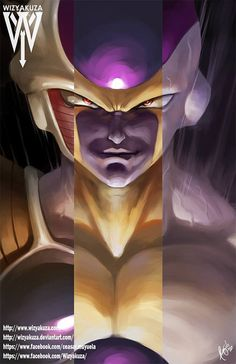Frieza Dragon Ball Z Base Golden and Final Form by Wizyakuza