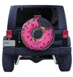 Pink Frosting Jelly Doughnut Spare Tire Cover More Jeep Wrangler Tire Covers, Jeep Spare Tire Covers, Jeep Tire Cover, Jeep Liberty Tire Covers, Wrangler Jeep, Jeep Wranglers, Jeep Wrangler Accessories, Jeep Accessories, Jeep Covers