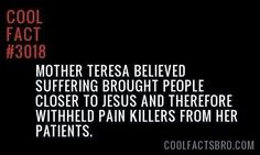 Cool fact: mother Teresa was an evil, twisted person and people still think she's a saint. Secular Humanism, Anti Religion, True Facts, Odd Facts, Question Everything, Atheism, Gods Love, Good To Know, At Least