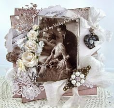 Vintage Love Card using Pion papers & Pion image.