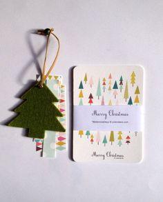 MERRY CHRISTMAS Cards  géométriques et couleurs par mademoiselleyo