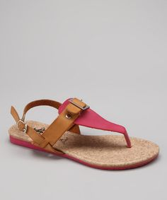 Take a look at this Fuchsia Nelly Sandal by Jacobies Footwear on #zulily today!