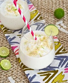 Coconut Key Lime Pie Smoothie is the refreshing, healthy way to enjoy your key lime pie!