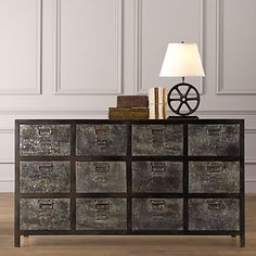 restoration hardware, industrial kids furniture.  love