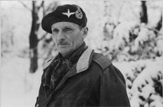 Field Marshal Montgomery wearing the jump jacket and red beret of the Parachute Regiment 15 January 1945. 'Monty' was Colonel Commandant of the Parachute Regiment.