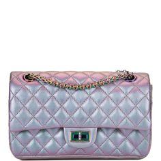 2689864b25fc Chanel Light Purple Mermaid Iridescent Goatskin Medium 2.55 Reissue Double  Flap Bag. Madison Avenue Couture