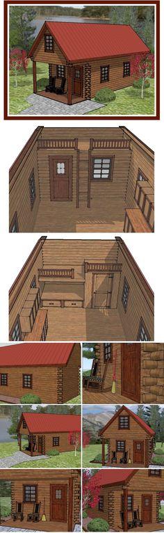 custom line drawing | portable log cabin
