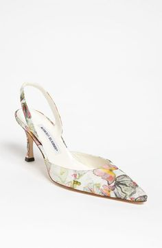 Manolo Blahnik 'Carolyne' Pump available at #Nordstrom  The perfect spring shoe :)
