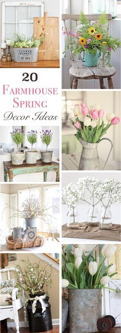 Welcome spring into your home with these beautiful and inspiring rustic decor ideas for your kitchen, living room, dining room, entry room and more.