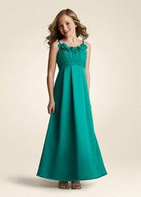 Junior Bridesmaid dress idea...Black or Royal Blue
