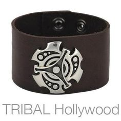 APOLLO leather wrist cuff by Bico Australia. This leather wrist cuff has stunning decorative metal work on the top revealing a three dimensional tribal design. The bracelet snaps together in the back and is adjustable to two sizes. Mens Silver Rings, Silver Man, Sterling Silver Rings, Bracelets For Men, Cuff Bracelets, Leather Cuffs, Black Leather, Metal Working, Rings For Men