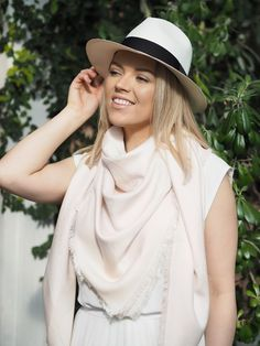 Balmuir Capri scarf is a bestseller piece. fashion, style, vacation, panama hat