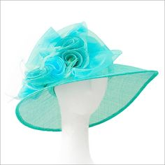 81b00f04245 Racer Brim Derby Hat. Turquoise