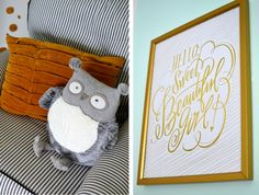 Love this darling gold print from @HobbyLobby - nursery perfection!