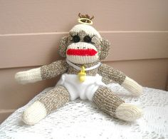 Tiny the Baby Sock Monkey by DeedleDeeCreations on Etsy