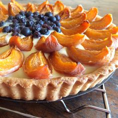 The Sweet Talker: Apricot and Blueberry Tart