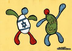 """Dwaalhaas.nl Kunst uit Eindhoven : Islamic & Jewish """"Happy People"""""""