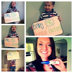 Pregnancy announcement for mommy and soon to be big brother!