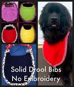 Looking For Plain Solid Color Drool Bibs With No Embroidery Or A