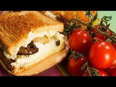 Sandviș cu ciuperci și brânză la cuptor - YouTube Cheesesteak, Ricotta, Mozzarella, Cooking Recipes, Ethnic Recipes, Youtube, Food, Chef Recipes, Essen