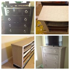 Wall papered furniture