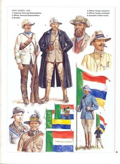 Osprey book illustration: men-at-arms boer wars by gerry embleton at the illustration art gallery Scouts, South African Flag, African States, Army History, Military Art, Military Uniforms, African History, Book Illustration, Warriors