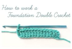 How to Work a Foundation Double Crochet {Photo Tutorial} | www.petalstopicots.com | #crochet #tutorial #howto