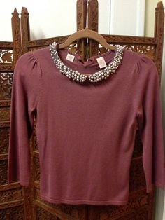 ANTHROPOLOGIECross Stitch Heart-cute Blouse perfect for fall $36!!!