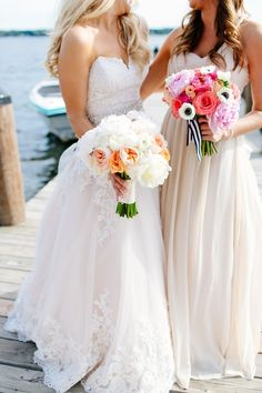 Colorful and Preppy Summer Wedding Bouquets   Leah Fontaine Photography on @AislePerfect via @aislesociety