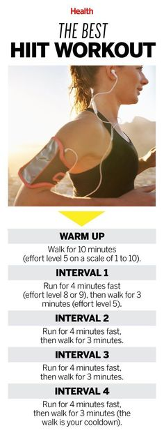 Any HIIT (high-intensity interval training) session has major fat-burning benefits, but a 4x4 interval workout like this one is tops for improving fitness. | Health.com