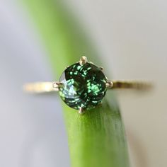 Reserver Listing for Till - Portuguese Green Tourmaline In 14K Yellow Gold Ring