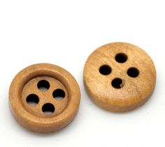 HOUSWEETY 200PCs Coffee 4 Holes Round Wood Sewing Buttons 11mm(3/8') Dia. -- Read more reviews of the product by visiting the link on the image.