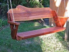 Leopold bench swing by Pleasant Lake Hardwoods