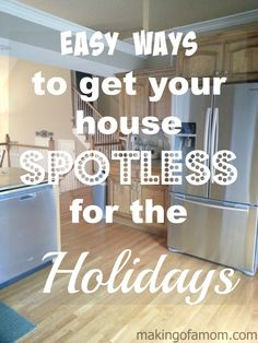 Easy Ways to Get your House Spotless for the Holidays Small Space Organization, Organization Hacks, Diy Cleaning Products, Cleaning Hacks, Cleaning Flyers, Diy Projects Cans, Chores For Kids, Elderly Care, Home Ownership