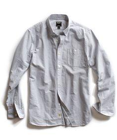 Grey Heather Selvedge Oxford Shirt