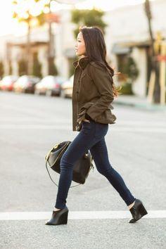 Casual Peplum :: Olive jacket