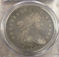 1800 Bust Silver Dollar PCGS VF 25 Original Coin Nice Luster and Details | eBay