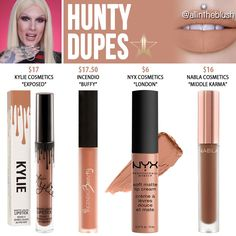 Jeffree Star Hunty Velour Liquid Lipstick Dupes [Summer 2017]