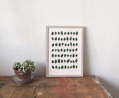 Handmade Pressed Viola Leaf Artwork A4 by MRStudioLondon on Etsy