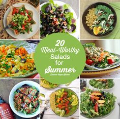 These meal-worthy salads will help you keep your cool this summer without making you hungry!