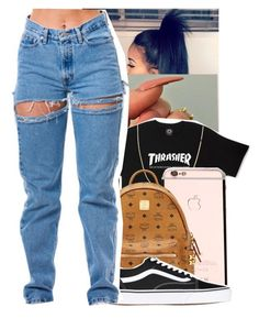 """Untitled #485"" by jawnnsowavyy2 on Polyvore featuring MCM and Vans"