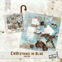 JM Creations: NEW Kit Christmas in Blue --- #freebie #QP #Christmas #Noël