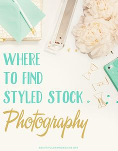 What to know where bloggers are finding the beautiful styled stock photography they use for their blog? In this post I'll show you where to find styled stock photography.