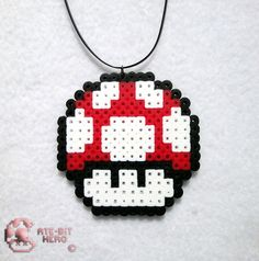 Super Mario Brothers Mushroom Necklace Bead Sprite