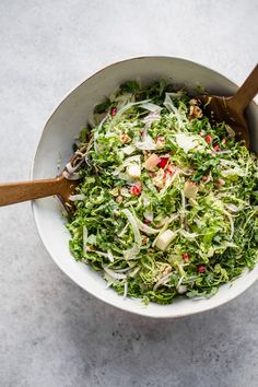 Shaved Brussels Sprouts, Fennel & Apple Salad